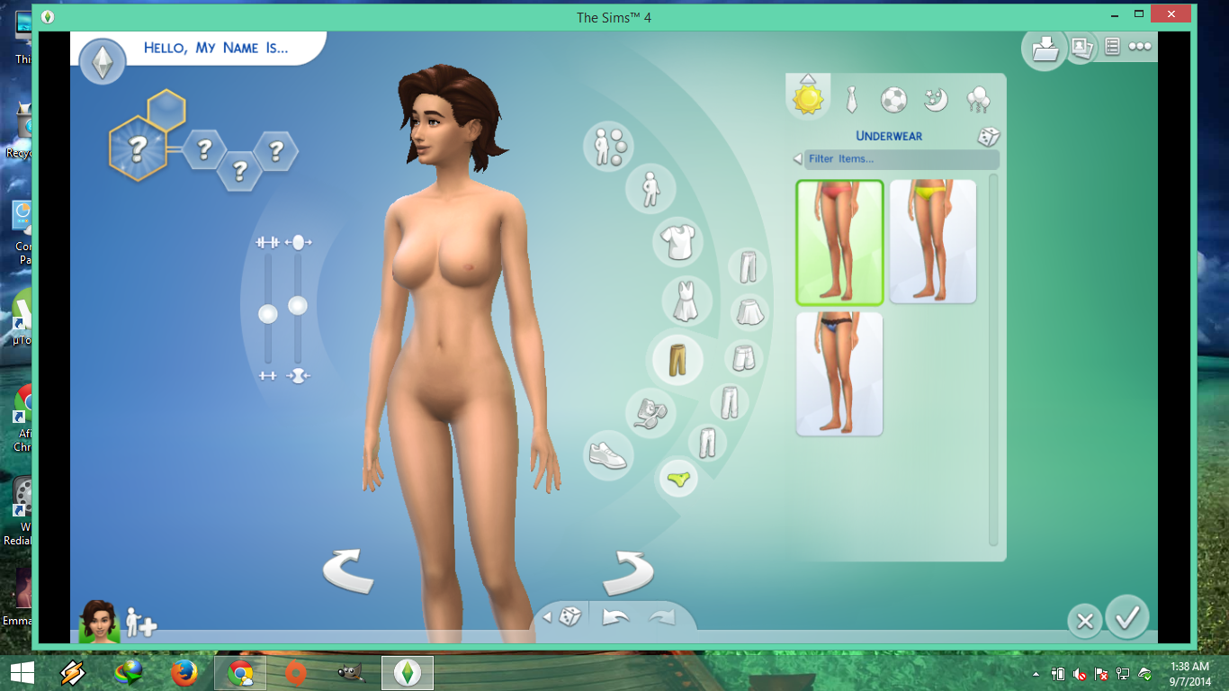 The sims family naked erotic image